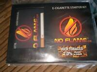 e-cigarette starter kit no flame