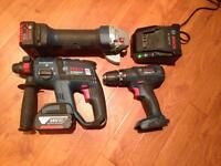 Bosch 18V grinder 3 mode SDS drill & combi drill kit in great condition.