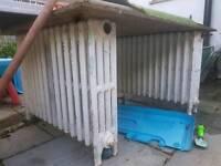 3 x cast iron column radiator