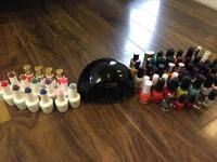 Gel lamp , gel polish and nail polish