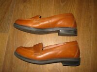 OFFICE 6UK genuine leather loafers leather shoes brown size eur39 flats