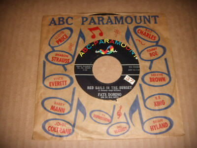 """Fats Domino """"Red Sail In The Sunset / Song For Rosemary""""   1963 NM"""