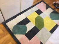 MADE large rug 170 x 240 with eye catching geometric pattern. 100% wool
