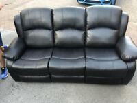 3 Seat Recliner - Brown or Black, more available