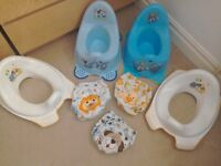Baby potty's, over the toilet kids seat and training pants