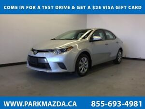 2016 Toyota Corolla LE FWD - Bluetooth, Backup Cam, Heated Front
