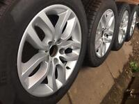"NEW 17"" Genuine BMW X3 alloy wheels +NEW Pirelli tyres VW Transporter T5 T6 RRP£1800 CAN POST"