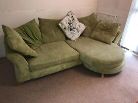 DFS Lime green Large 4 Seater Sofa