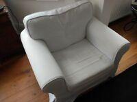 IKEA Ektorp armchair in white