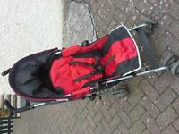 Maclaren Quest Pushchair Stroller red black