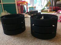 2 Black Lampshades