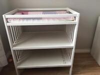 Baby changing unit nursery furniture