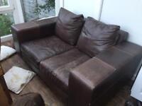 BHS leather sofa free