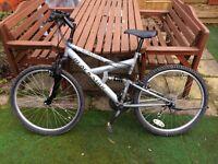 mountain bike excel, 15 speed shimano gears, new parts, ( please read description )
