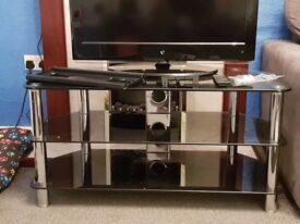 32 inch tv plus glass tv stand