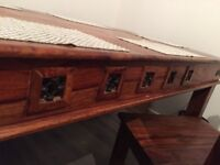Solid wood table and 6 chair , ,, ,