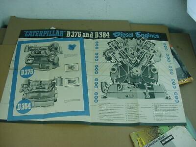 Authentic CATERPILLAR Diesels D375 D364 Vintage Advertising Brochure Poster