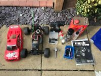 HPI Nitro Rush Evo RC Truck with fuel and loads of extras and upgrades