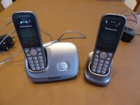 Pair of Panasonic digital cordless telephones