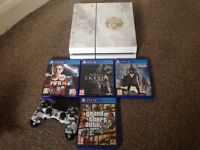 Sony ps4 white 500gb ltd edition destiny,one camouflage wireless controller,5 games