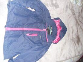 Lovely Trespass 3-4yrs waterproof coat £5