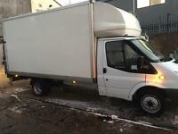 Man&van large Luton van with tail lift24/7short notice house office flat student movers all over uk
