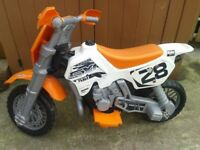 Kids ELECTRIC MOTORBIKE. 6 Volt. FEBER CROSS-SXC. Includes Charger. 22 inch seat height. RRP £180