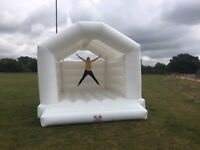 Adult (and Kids) White Bouncy Castle Hire! Book for next year! Amazing Photoshoot! Wedding.