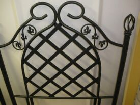 METAL SINGLE BED HEADBOARD at Haven Housing Trust's charity shop