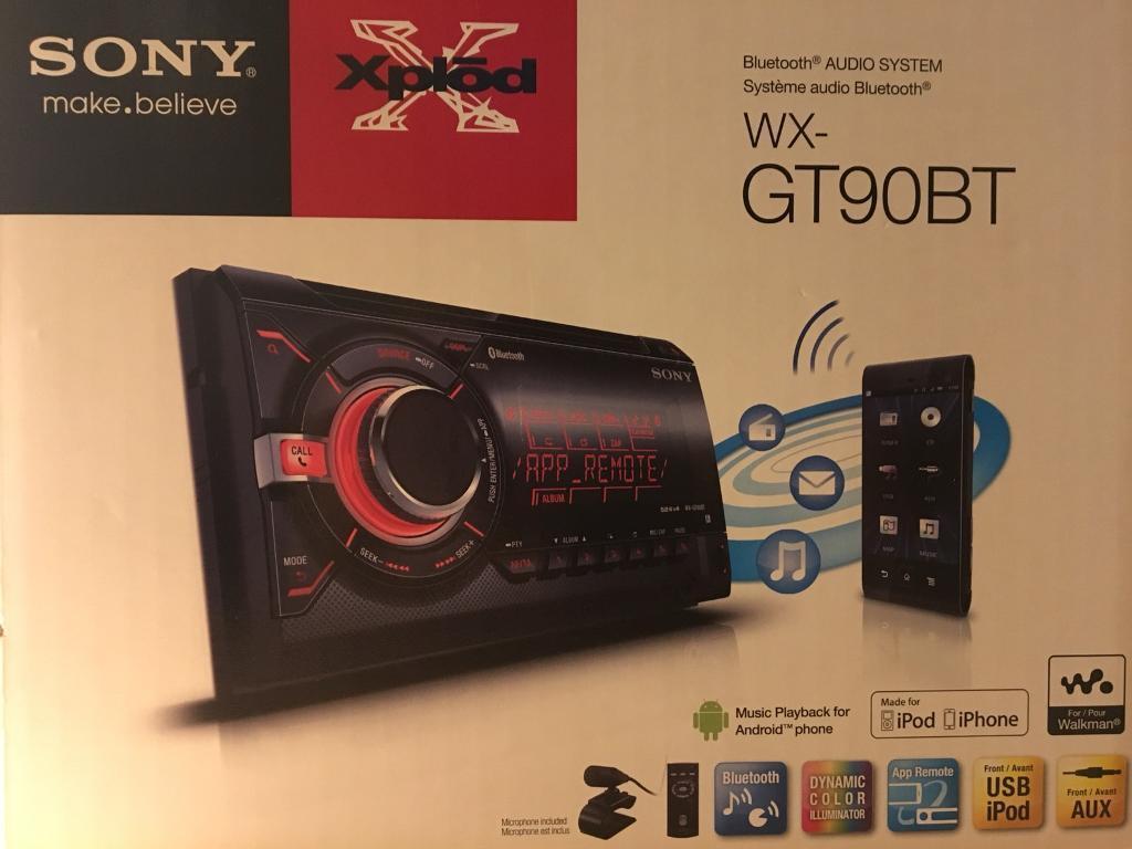 Sony Xplod GT90BT - Double Din Bluetooth Car Stereo   in Harlow, Essex    Gumtree