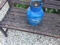 Empty gas bottle.
