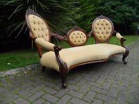French Renaissance (Louis Rococco) Style Conversation Seat