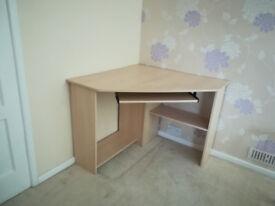 Open corner desk with loads of storage