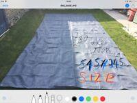 Awning breathable ground sheet like new
