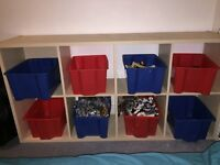 Ikea toy box storage unit with boxes