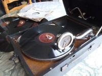 beautiful original 1930s(HMV)his masters voice 78 speed table top gramophone,amazing retro tone.....