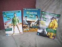 BREAKING BAD BOX SETS SERIES 1, 2 AND 3 PLAYED ONCE.