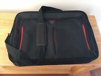 "Targus Classic+ 17-18"" Clamshell Laptop Bag - Black/Red"