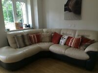 Dfs leather corner sofa for sale