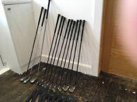 9 Callaway Big Bertha golf irons with graphite regular shafts plus 3 woods as an extra