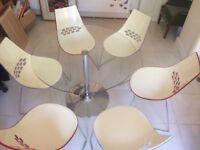 6 Calligaris Italian designer chairs & table