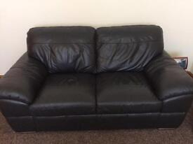 Beautiful Black Leather Couches for sale