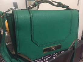 Smart green handbag