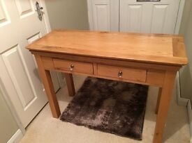 Solid oak hall/console table