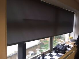 Dark Grey Roller Blinds x 3, MINT CONDITIONS!