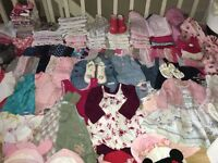Bundle of baby girl clothes 0-3,3-6 months, about 100 various items!!!