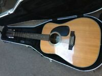 Sigma DR12-28 12 String Dreadnought Acoustic Guitar with Gator hard case