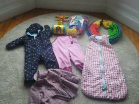 Toddler toys and outdoor clothing