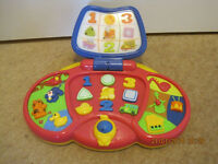 VTECH MUSICAL LAPTOP - with instrument & animal sounds + numbers & shapes - WONDERFUL +Instructions!