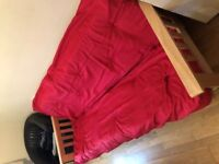 three seater futon bed, like new very comfy